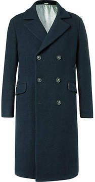 Massimo Alba Oversized Double-Breasted Textured-Wool Coat