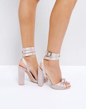 Public Desire Tropical Satin Heeled Sandals