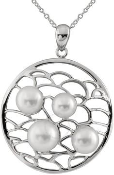 Bella Pearl Sterling Silver Medallion Pearl Pendant