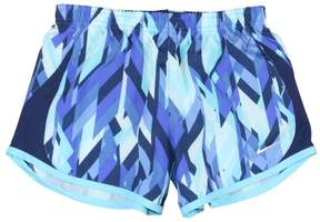 Nike Big Girls' (7-16) Dri-Fit 5k Allover Print Running Shorts-Blue/Navy-Small