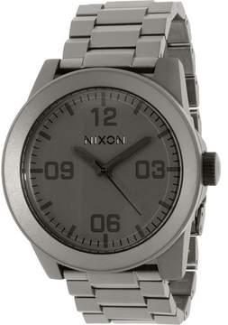 Nixon Men's Corporal Ss A3461062 Grey Stainless-Steel Quartz Dress Watch