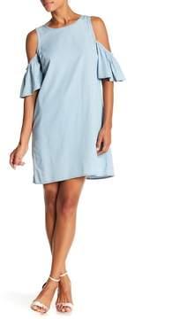 ABS by Allen Schwartz Cold Shoulder Dress