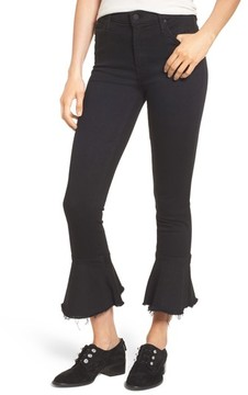 Mother Women's The Cha Cha Fray Flare Crop Jeans
