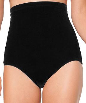Anne Cole Black Tummy-Control Bikini Bottoms - Women