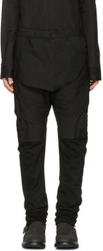 Julius Black Layered Bands Trousers
