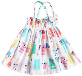 Fendi Ice Cream Cotton Muslin Dress