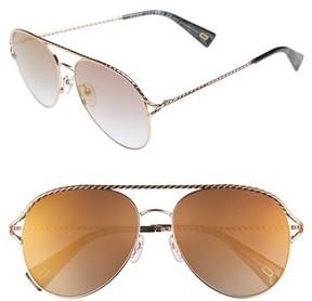 Marc Jacobs Women's 58Mm Aviator Sunglasses - Antique Gold Green