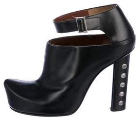 Marc Jacobs Leather Cut-Out Booties