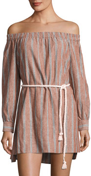 Dolce Vita Vickie Linen-Blend Striped Dress, Multi