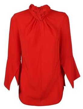 Victoria Beckham Women's Tplng1333red Red Silk Blouse.