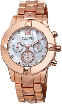 August Steiner Womens Rose Goldtone Strap Watch-As-8107rg