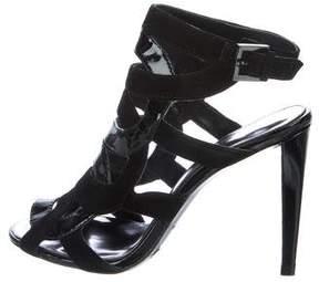 Karen Millen Patent Leather Cage Sandals