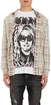 R 13 Men's Plaid Cotton Inside-Out Shirt