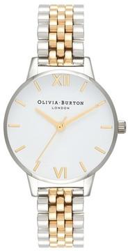 Olivia Burton Women's Two-Tone Round Bracelet Watch, 30Mm