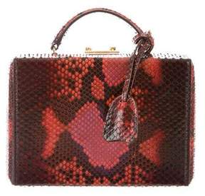 Mark Cross Python Small Grace Box Bag