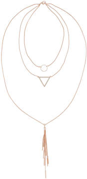 Fragments for Neiman Marcus 3-Row Layered Pendant Necklace, Rose Golden