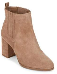 Saks Fifth Avenue Lafayette Suede Block Heel Booties