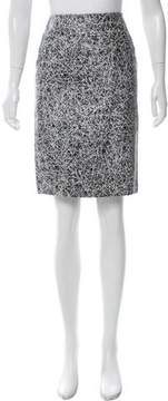 Cédric Charlier Abstract Print Leather Skirt