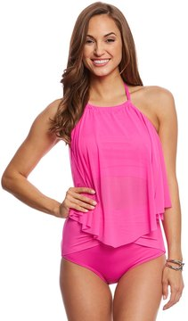 CoCo Reef Classic Solid Aura Mesh Ruffle Tankini Top (C/D/DD Cup) 8160462