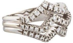 Damiani Diamond Three-Row Wave Ring