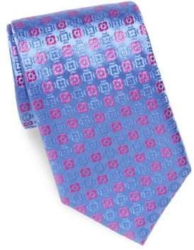 Charvet Geometric Pattern Tie