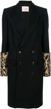 A.F.Vandevorst leopard print sleeves coat