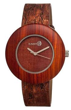 Earth Wood EARTH Women's Ligna Watch with Genuine Leather Strap