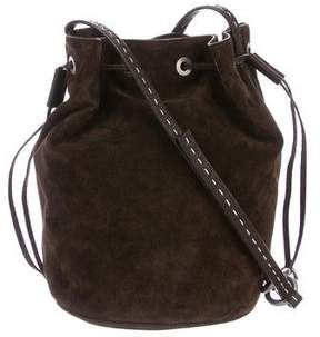 Michael Kors Suede Bucket Bag - BROWN - STYLE