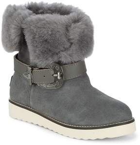 Australia Luxe Collective Women's Yvent Shearling Trim Buckled Boots