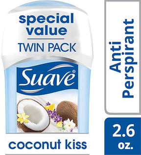 Suave Antiperspirant Deodorant Coconut Kiss, Twin Pack