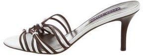 Ralph Lauren Purple Label Metallic Slide Sandals