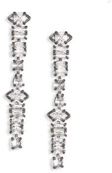 Fallon Jagged Edge Linear Drop Earrings