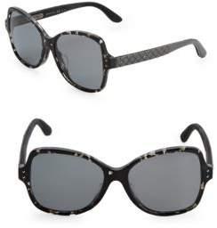 Bottega Veneta 56MM Rectangle Sunglasses