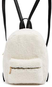 Forever 21 Faux Shearling & Faux Leather Backpack