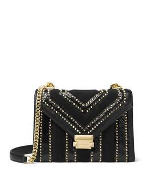 MICHAEL Michael Kors Whitney Large Studded Flap Shoulder Bag