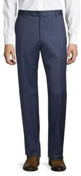Lubiam Windowpane Wool Trousers