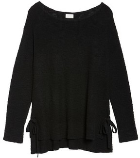 Caslon Plus Size Women's Tunic Sweater With Side Ties