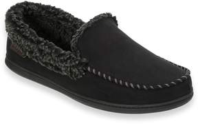 Dearfoams Men's Microfiber Whipstitch Moccasin Slippers
