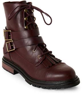 Rocket Dog Burgundy Laci Zip Combat Boots