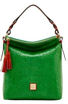 Dooney & Bourke Ostrich Small Sloan Bag. - GREEN - STYLE