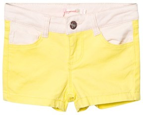 Billieblush Neon Yellow and Pink Denim Shorts