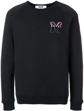 MSGM micro faded logo sweatshirt