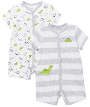 Little Me Dino Rompers - 2-Piece Set (Baby Boys)