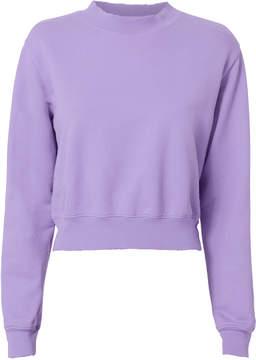 Cotton Citizen Milan Cropped Purple Sweatshirt