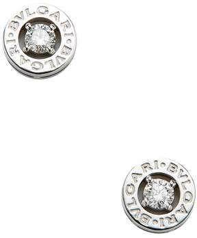 Bulgari Women's Vintage White Gold & Diamond Earrings