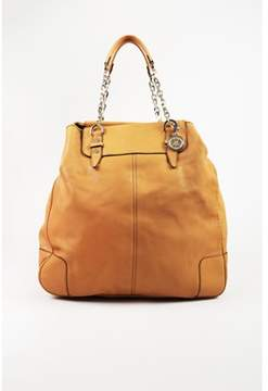 Lanvin Pre-owned Yellow Leather Chainlink Handle Tote Bag.
