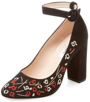 LK Bennett L.K.Bennett Women's Margarita Embroidered Suede Pump