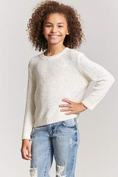 Forever 21 Girls Multicolor Accent Sweater (Kids)