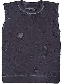 Nununu Kids' Distressed Cotton French Terry Sleeveless Sweatshirt