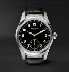 Montblanc Summit 46mm Stainless Steel And Leather Smartwatch